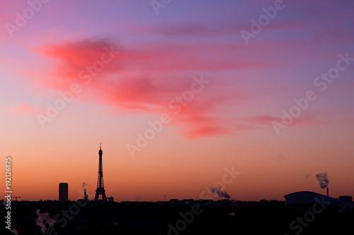 Fotobehang Koraal Tour eiffel paris france visiter tourisme capitale symbole tour montparnasse