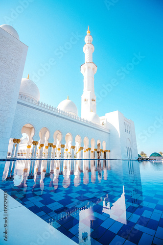 Foto op Canvas Abu Dhabi Sheikh Zayed Mosque