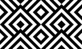 Seamless pattern black and white diagonal lines - 192139097
