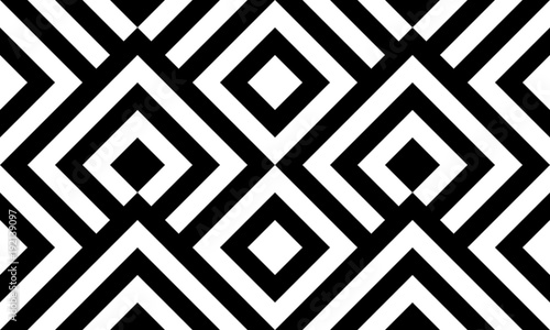 mata magnetyczna Seamless pattern black and white diagonal lines