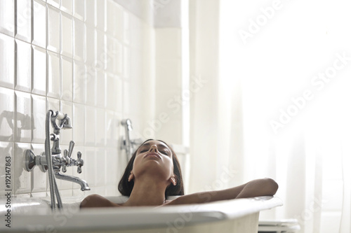 Relax in the bathtub