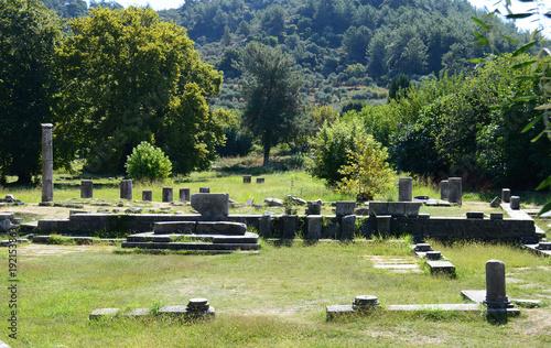 THASSOS, GREECE- September 13, 2015: The Ancient Agora in Thassos island, Greece.