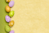 a beautiful colored eggs easter background - 192154421