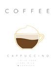 Poster coffee cappuccino white - 192158225