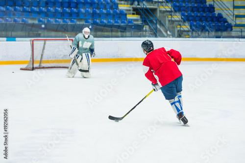 Hockey Players On Ice Professional Hockey Game Sport Photo Goalie