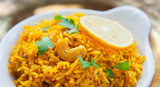 Yellow Indian Rice with Lemon