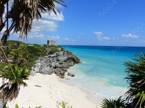 Fotobehang Tropical strand Paradise landscape