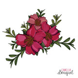 Bright PInk Camellia Bouquet perfect for invitations - 192163867