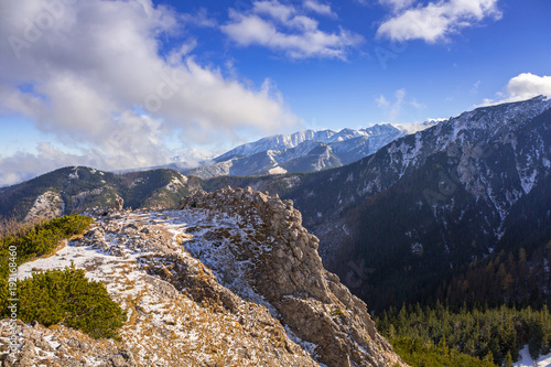 Aluminium Bleke violet Scenery of Tatra mountains at winter, Poland