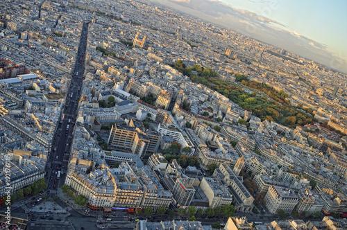 Fridge magnet Paris from above.