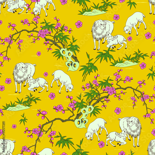 cute and traditional sheep pattern