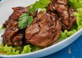 Turkish  chicken in pomegranate sauce - 192177844