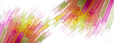 Colourful straws on a white background - macro detail - 192178852