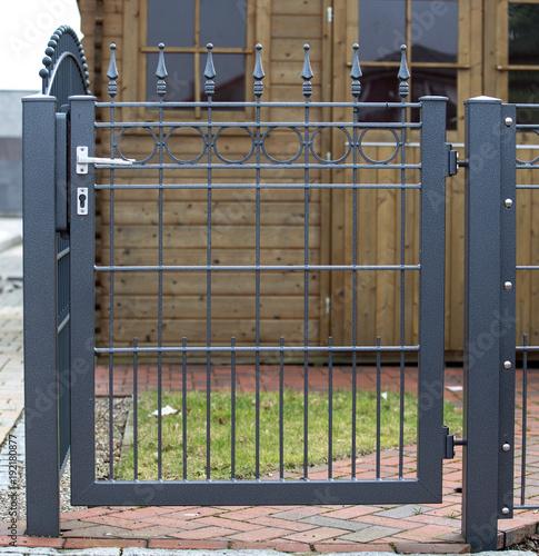 iron gate to the garden