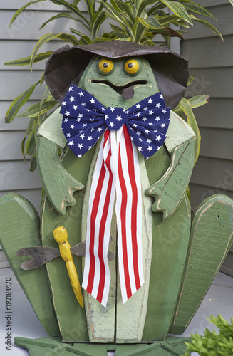 Fotobehang Kikker wooden frog