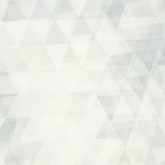 Abstract colorless background textured by transparent triangles. Vector graphic pattern