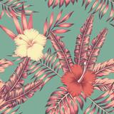 Hibiscus leaves vint...
