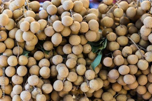 Fotobehang Thailand close up longan in market