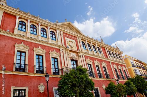Historic buildings and monuments of Seville, Spain. Spanish. PLAZA de San FRANCISCO