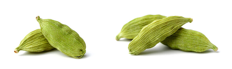 dried cardamom seeds isolated on white © amy_lv