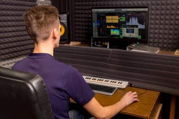 Technician in a recording studio