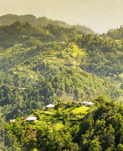 Fotobehang Pistache Guatemala Landscape Rural Village