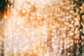 Defocused golden lights background