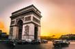 L'arc de Triomphe au coucher du soleil
