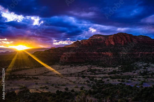 Foto op Canvas Zwart Sedona Arizona Sunset