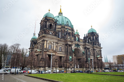 Foto op Canvas Berlijn Beautiful view of historic Berlin Cathedral (Berliner Dom) at famous Museumsinsel (Museum Island)