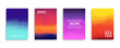 Covers collection with modern abstract color gradients. Templates set for brochures, posters, banners and cards. Vector illustration.
