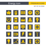Energy icon set vector - 192228422