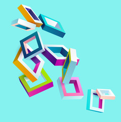 3d colorful frames