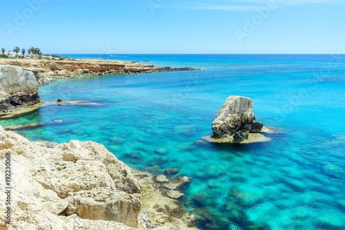 Fotobehang Cyprus Rocky beach in Ayia Napa