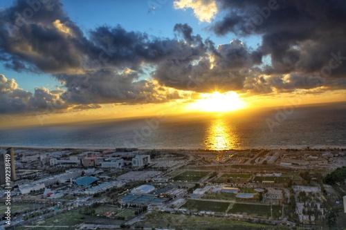 Foto op Canvas Zee zonsondergang Subset