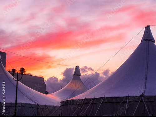 Foto op Canvas Berlijn Potsdamer platz sunset 7