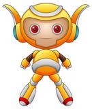 Funny Cartoon Character Robot    Wall Sticker