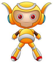 Funny Cartoon Character Robot    Sticker