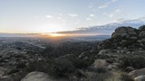 Sunrise time lapse view towards Porter Ranch in the San Fernando Valley area of Los Angeles California.  View from Rocky Peak Park in the Santa Susana Mountains. - 192251838