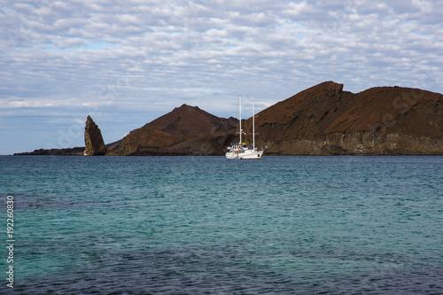 Fotobehang Zeilen Distant Sailboat