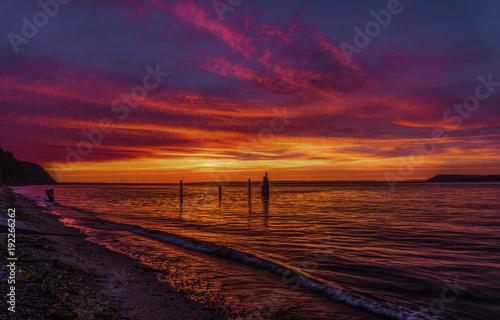 Foto op Canvas Aubergine Strait Of Juan de Fuca 9240