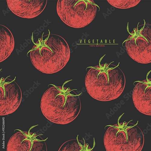 Red tomatoes seamless