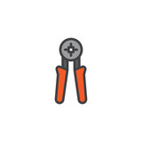 Wire stripper filled outline icon, line vector sign, linear colorful pictogram isolated on white. Cable cutter symbol, logo illustration. Pixel perfect vector graphics - 192267800