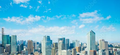 Fotobehang Blauw 東京風景