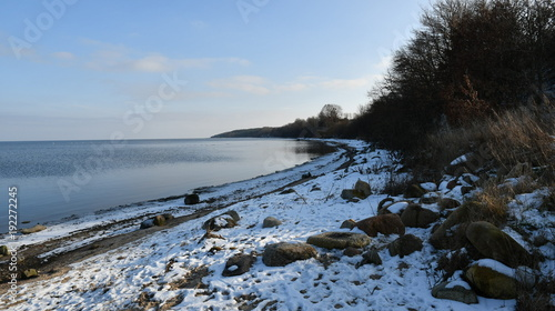 Fotobehang Zwart winter impressions from zatoka pucka, here you can see panorama photographs of zatoka pucka, pomerania, poland, europe