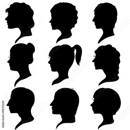 vector profiles of women and men