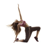 Fitness Woman Sport Dance Girl Dancing Breakdance Gymnastic Bending Freestyle Dancer   Wall Sticker