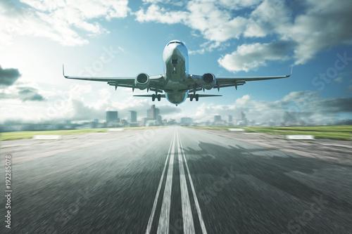 Foto Murales Flugzeug im Landeanflug