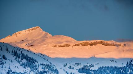 La Siala, Flims, Glarner Alpen, Morgensonne