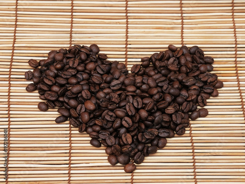 Papiers peints Café en grains Heart of coffee beans